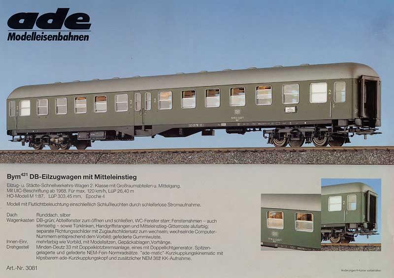ADE-Wagen Farbprospekt Mitteleinstiegswagen Bym (